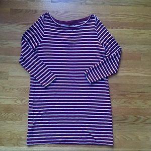 Lou & Grey NWT Striped Long Sleeve Dress